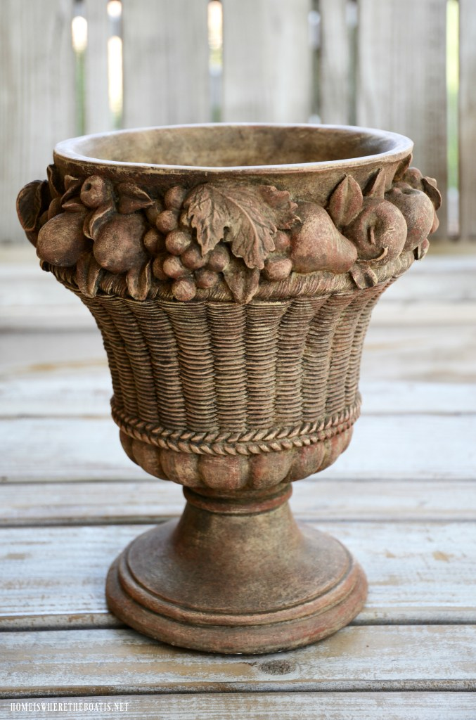 "Refreshing an urn with paint ""After"" 