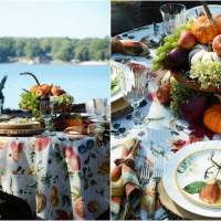 Botanical Fall Fruits + Lakeside Table