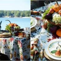 Botanical Fall Fruits + Lakeside Table