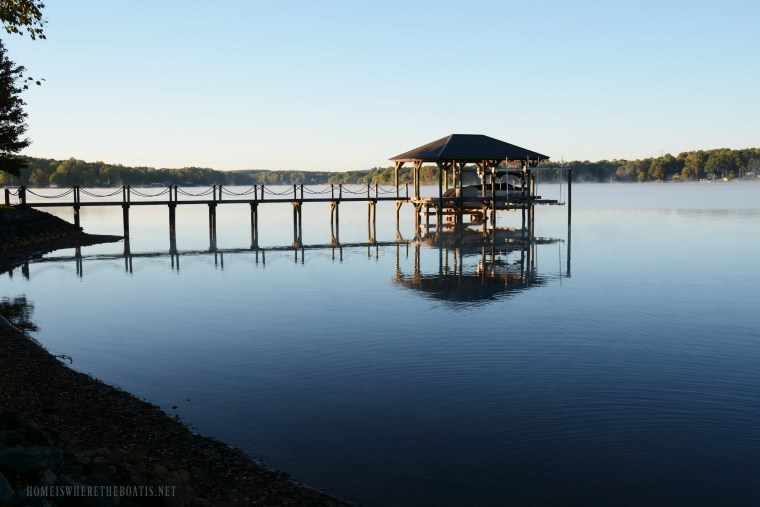 Weekend Waterview low water Lake Norman | ©homeiswheretheboatis.net