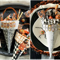 Tricks & Treats: DIY Halloween Treat Cones
