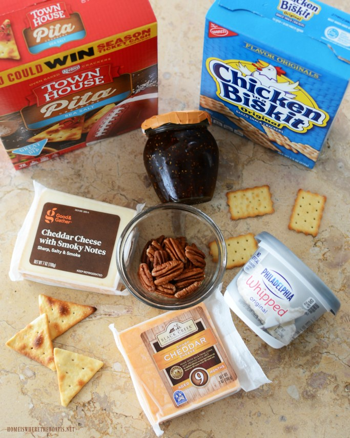 Pie cheese slice ingredients | ©homeiswheretheboatis.net #thanksgiving #friendsgiving #recipes #appetizer #cheese