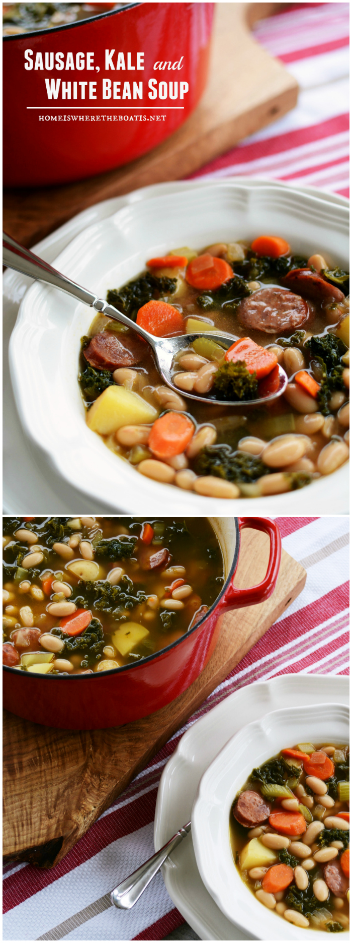 A Hearty Winter Soup: Sausage, Kale and White Bean Soup