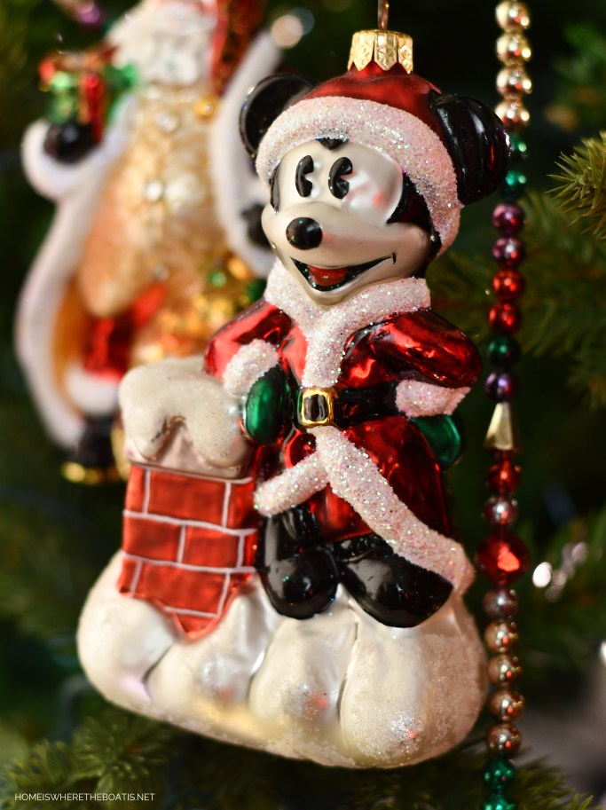 Mickey Mouse Christmas Ornament | ©homeiswheretheboatis.net #Christmas #tree