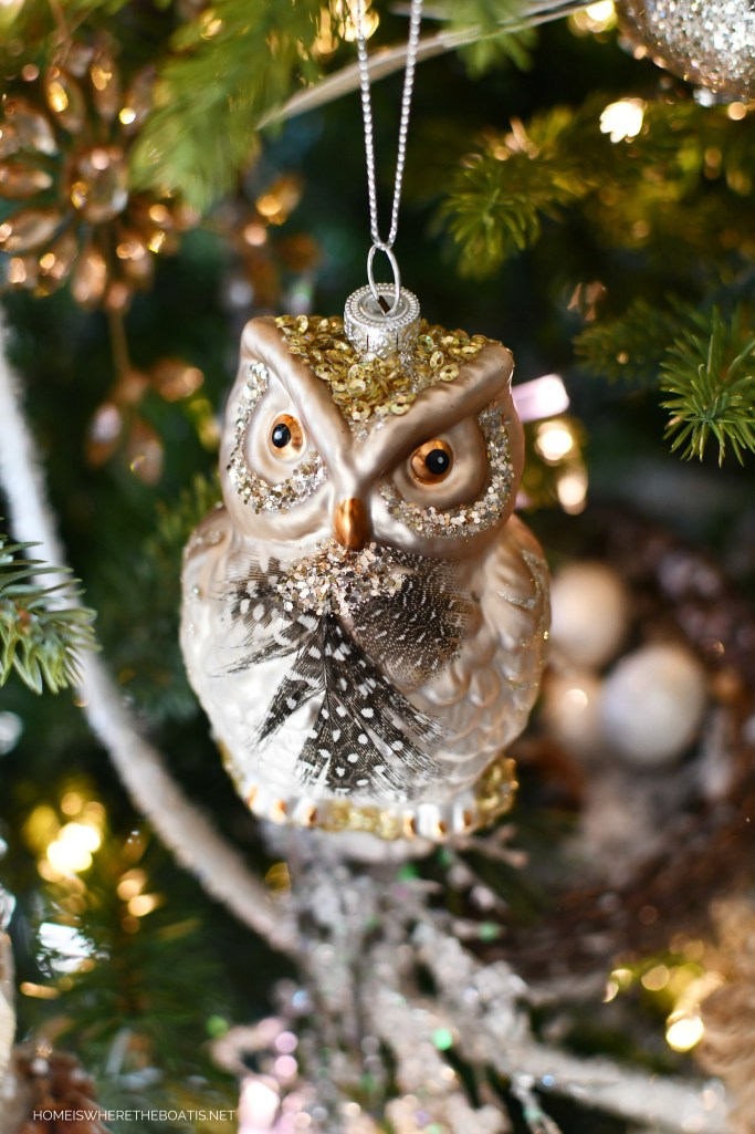 Owl ornament Winter Nesting Tree | ©homeiswheretheboatis.net