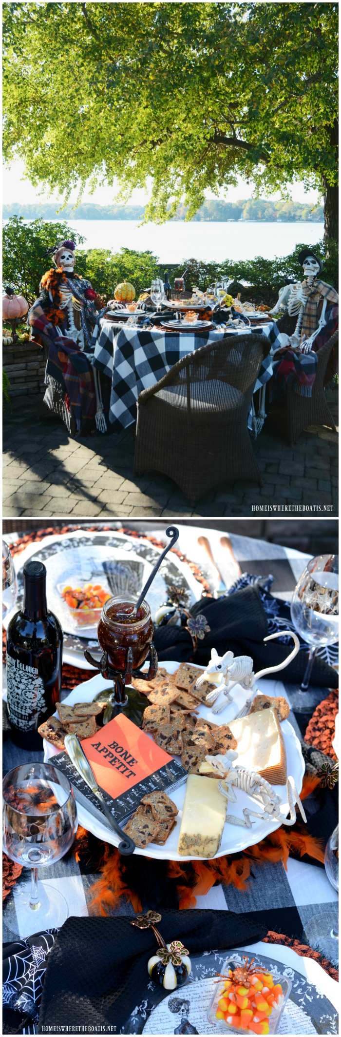 Bone Appétit: Rod & Rowena's Last Hurrah and Halloween Fun | ©homeiswheretheboatis.net #halloween #tablescapes