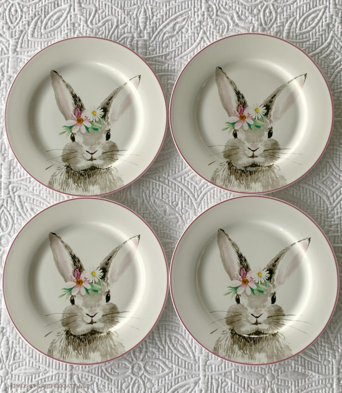 Hopping into Spring Giveaway! | ©homeiswheretheboatis.net #tablescapes #spring #Easter #bunny