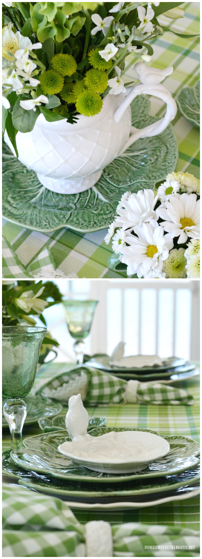 St. Patrick's Day Table with Inspiration from an Irish Blessing | ©homeiswheretheboatis.net #stpatricksday #tablescapes