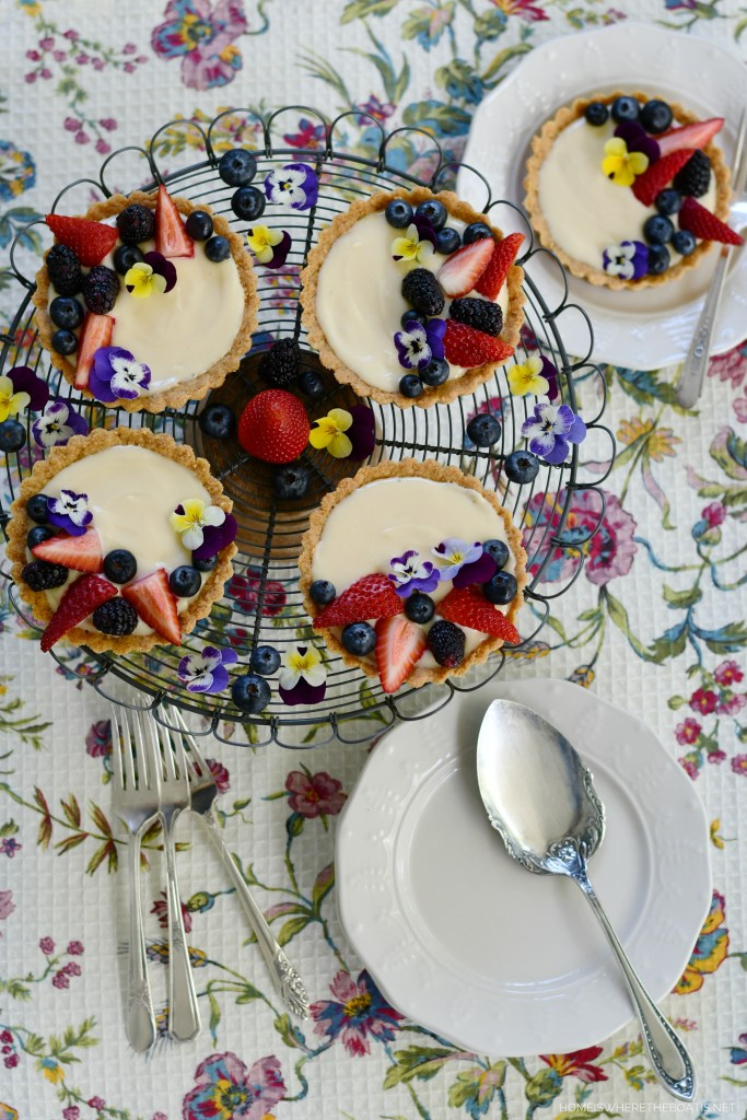 Mini Lemon Curd and Cream Cheese Tarts with Cookie Crust Ingredients | ©homeiswheretheboatis.net #tarts #recipes #desserts