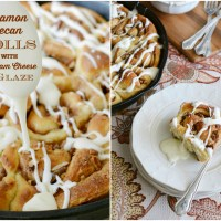 Cinnamon-Pecan Rolls with Cream Cheese Glaze