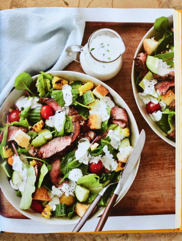 Marinated Steak Salad with Creamy Buttermilk-Herb Dressing   The Duke's Mayonnaise Cookbook + Giveaway