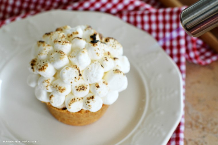 Muffin Pan Ice Cream S'mores! Enjoy this quintessential campfire treat, made with ice cream in the comfort of your kitchen! | ©homeiswheretheboatis.net #summer #NationalSmoresDay