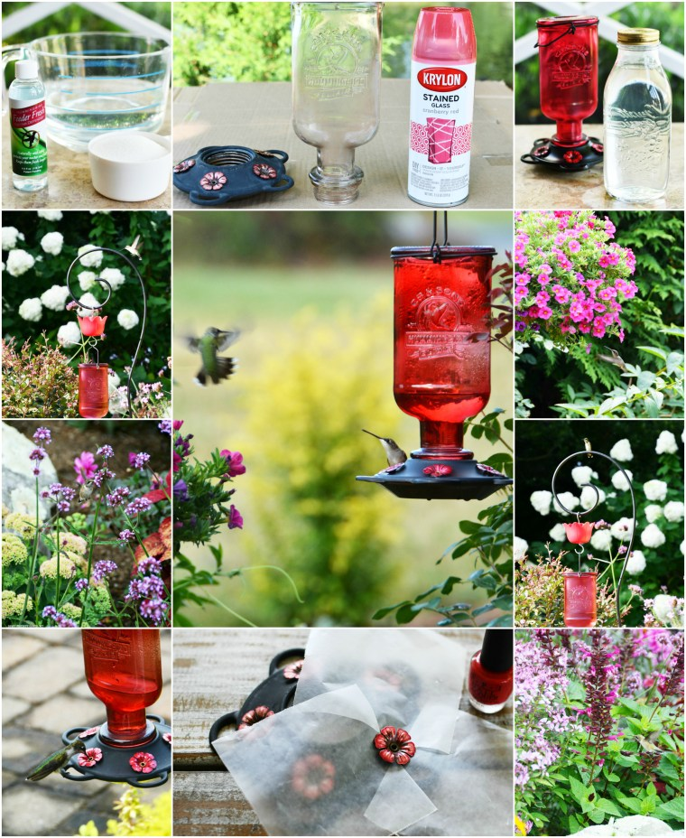 Tips for attracting Hummingbirds and How to Revive a Tired Feeder | ©homeiswheretheboatis.net #hummingbirds #tips #DIY #paint