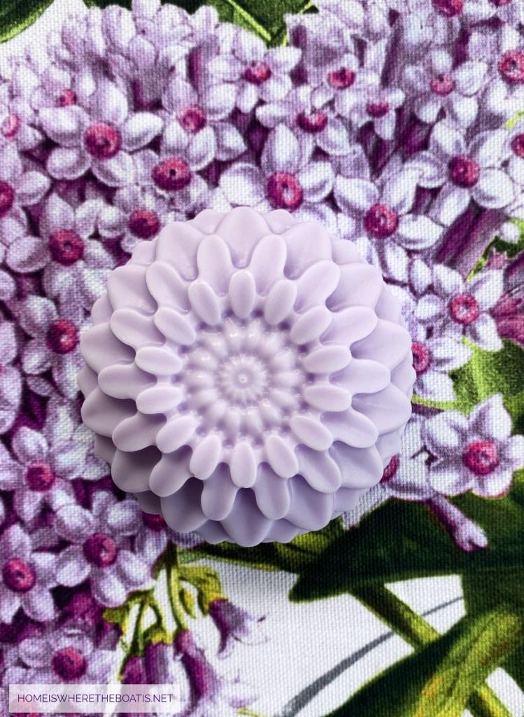 Easy DIY Flower Soap | ©homeiswheretheboatis.net #craft #DIY #flowers #soap #easy