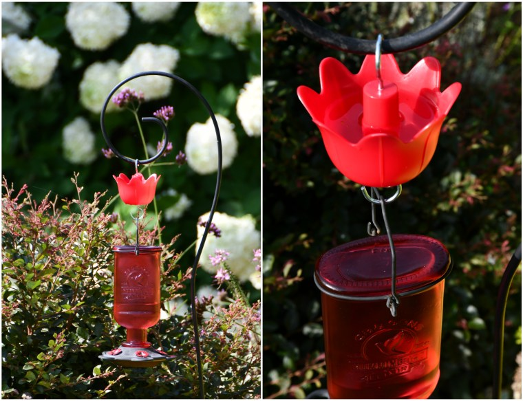 Ant Moat to keep ants out of Hummingbird Feeder | ©homeiswheretheboatis.net #hummingbirds #tips #DIY