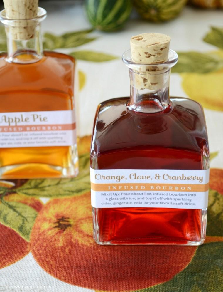 DIY Autumn Flavor- Infused Bourbon | ©homeiswheretheboatis.net #bourbon #DIY #holidaygift #foodgift #cocktail