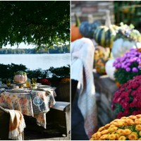 Alfresco Fall Table with Pumpkins