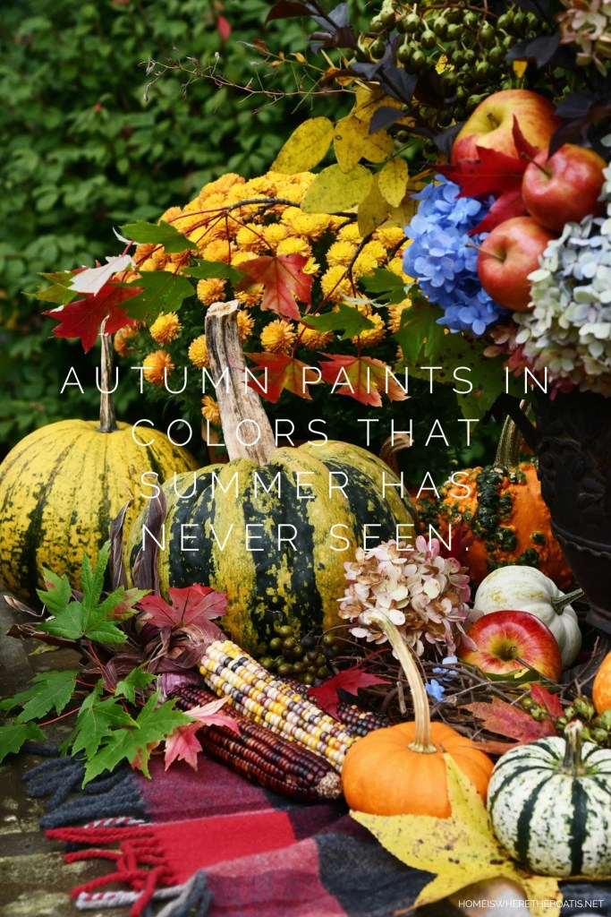 """Autumn paints in colors that summer has never seen."" 