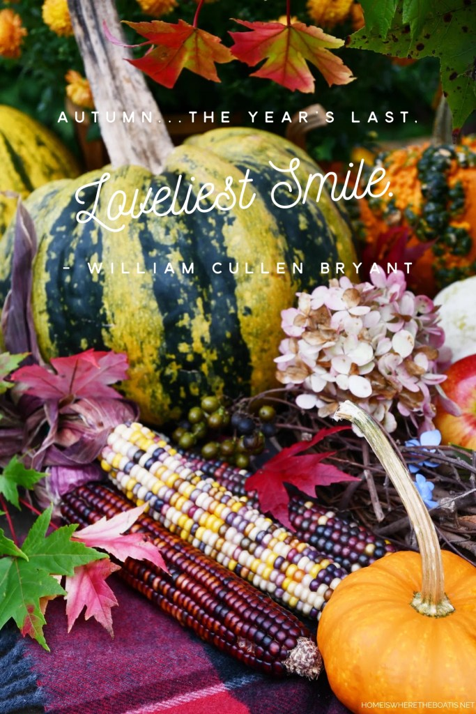 """Autumn…the year's last, loveliest smile."" - William Cullen Bryant 