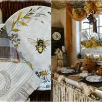 Bee Thankful Table in the Potting Shed