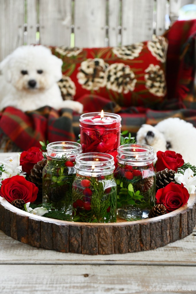 Lola and Sophie DIY Quick and Easy Mason Jar Candle Lamps | ©homeiswheretheboatis.net #masonjars #craft #diy #christmas #dogs #bichonfrise