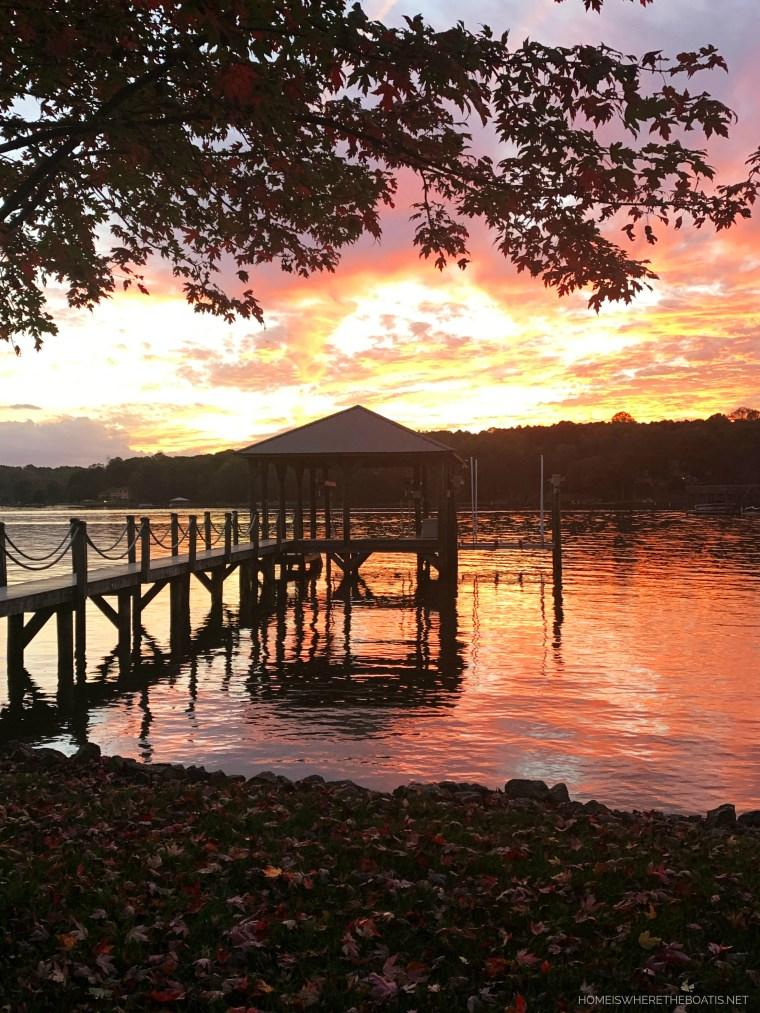 Sunset Lake Norman   ©homeiswheretheboatis.net #LKN