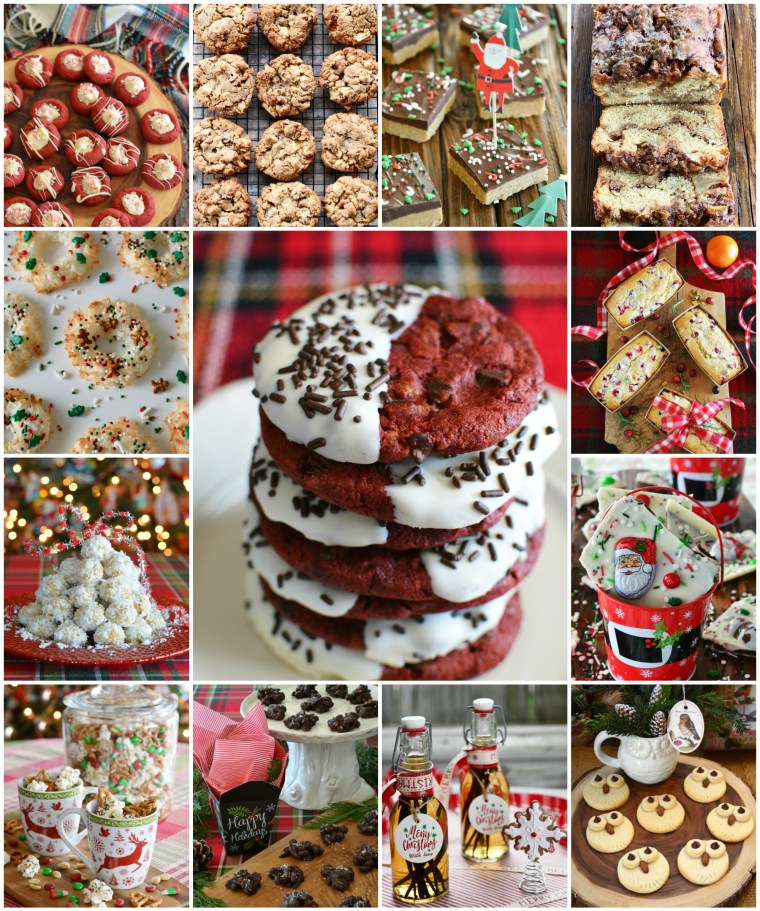 0+ recipes for baking or gifting to make your holidays extra sweet! You'll also find quick and easy no-bake treats for bars, snack mix and cocoa mix too | ©homeiswheretheboatis.net #christmas #recipes #cookies #bars #nobake #foodgifts