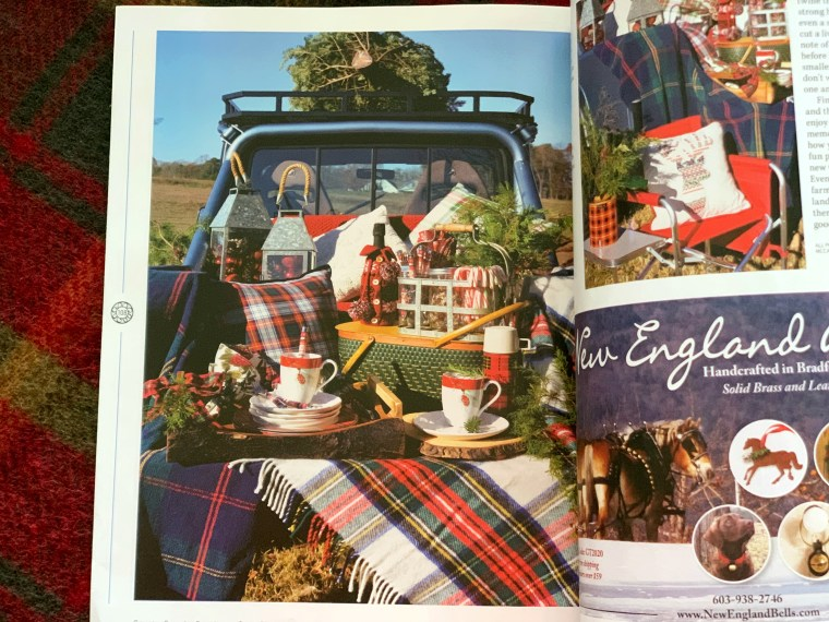 Magazine feature Country Sampler's Farmhouse Style Christmas issue | ©homeiswheretheboatis.net