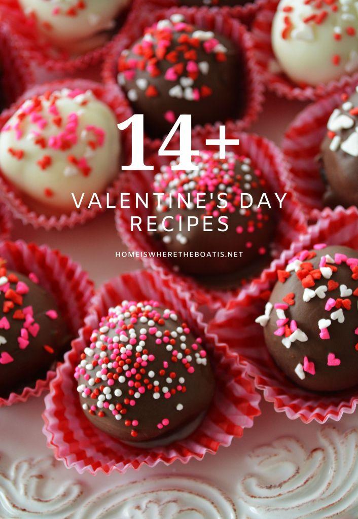 14+ Valentine's Day recipes to make your celebration extra sweet! | ©homeiswheretheboatis.net #ValentinesDay #recipes #nobake #cocktail #handpie #truffle