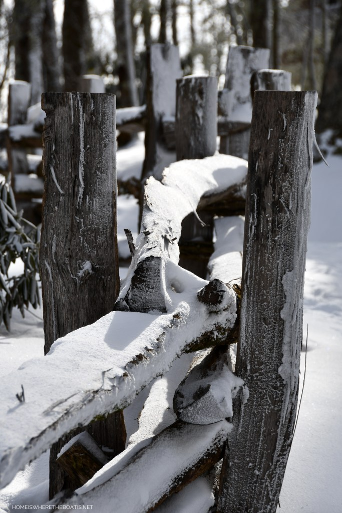 Fence in snow   ©homeiswheretheboatis.net #snow #ncmountains