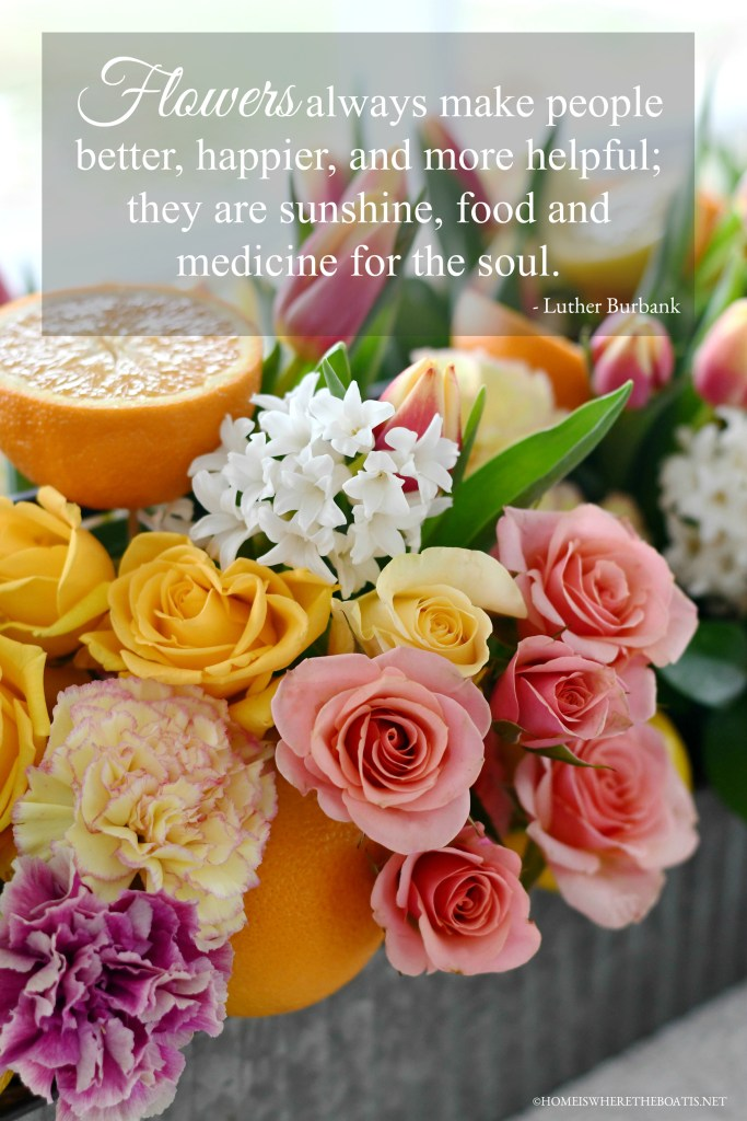 """""""Flowers always make people better, happier, and more helpful; they are sunshine, food and medicine for the soul."""" - Luther Burbank 