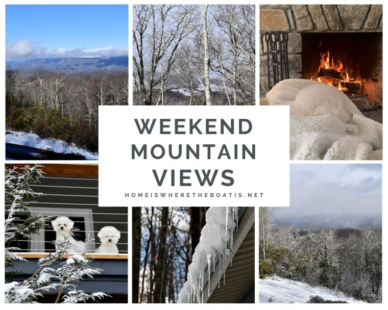 Weekend Mountain Views and Snow Days | ©homeiswheretheboatis.net #dogs #snow #bichonfrise #ncmountains