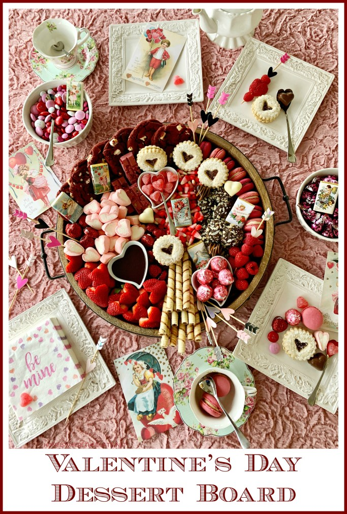 Valentine's Day Dessert Board | ©homeiswheretheboatis.net #valentinesday #dessert #board #chocolate