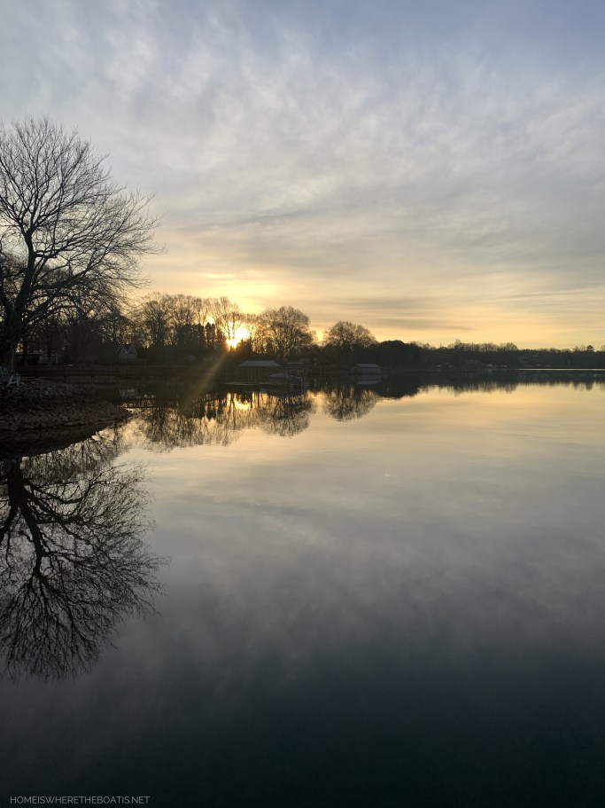 February Weekend Waterview and reflections | ©homeiswheretheboatis.net #lakenorman