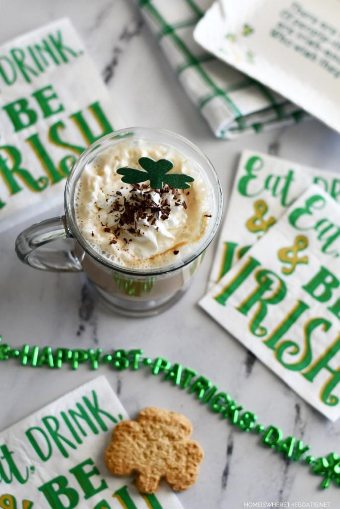 Easy Blender Irish Cream Recipe   ©homeiswheretheboatis.net #stpatricksday #irish #cocktail #easy #recipe