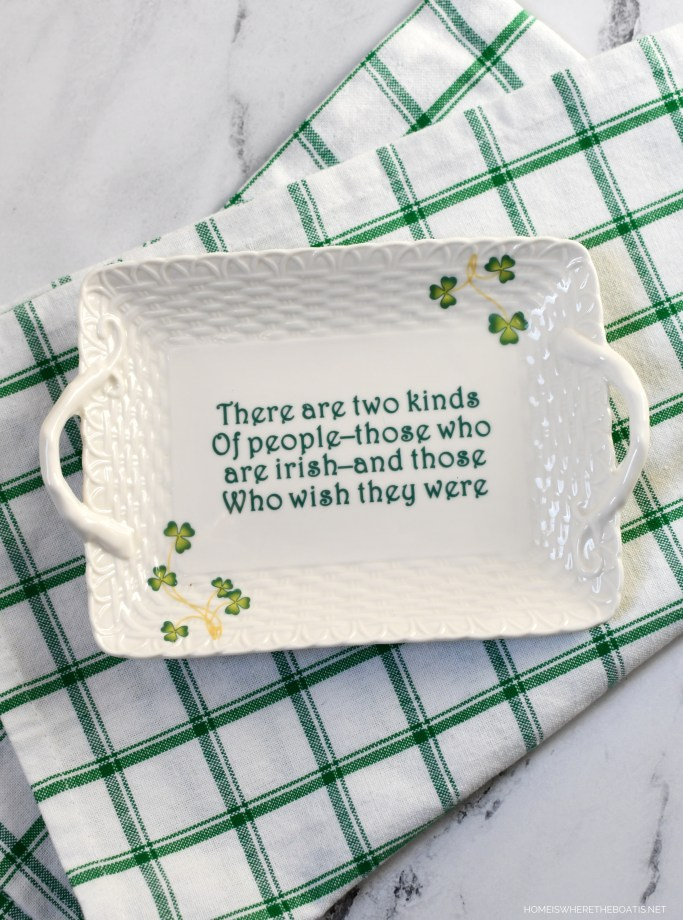 There are two kinds of people --those who are Irish and those who wish they were.   ©homeiswheretheboatis.net #stpatricksday #irish #cocktail #easy #recipe