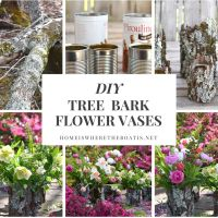 DIY Tree Bark Flower Vases + Monday Morning Blooms