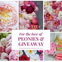 For the Love of Peonies and Giveaway