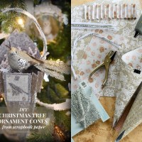 Christmas in July Craft: How to Make Easy Scrapbook Paper Tree Ornament Cones