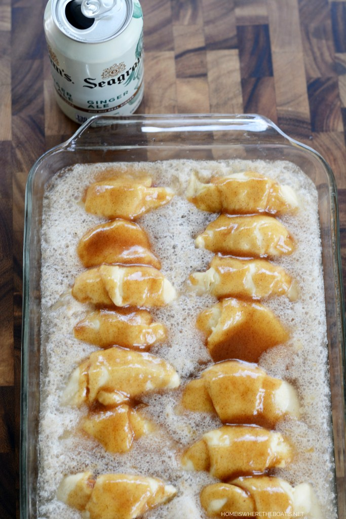 Lazy Days of Summer Dessert: Quick & Easy Peach Dumplings | ©homeiswheretheboatis.net #easy #summer #peach #recipes #desserts