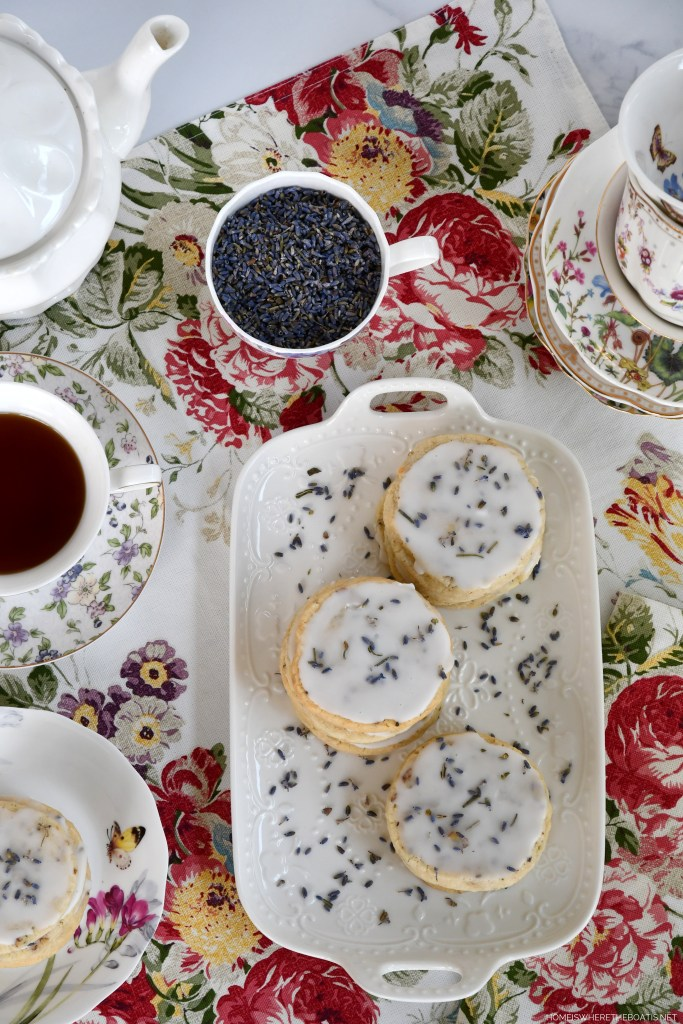 Melt-in-Your-Mouth Lavender-Pecan Shortbread Cookies | ©homeiswheretheboatis.net #teatime #shortbread #lavender #cookie #recipe