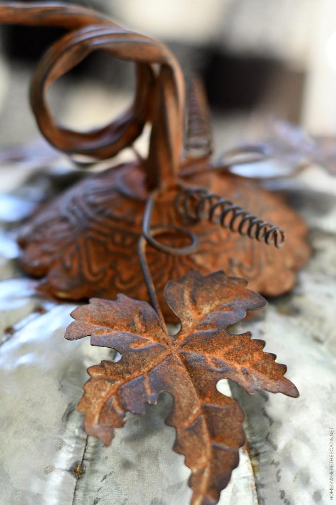 Galvanized pumpkin | ©homeiswheretheboatis.net #fall