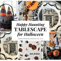 Keeping the Happy in Halloween: A Happy Haunting Tablescape