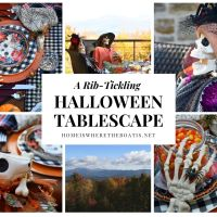 A Rib-Tickling Tablescape with Rod and Rowena for Halloween