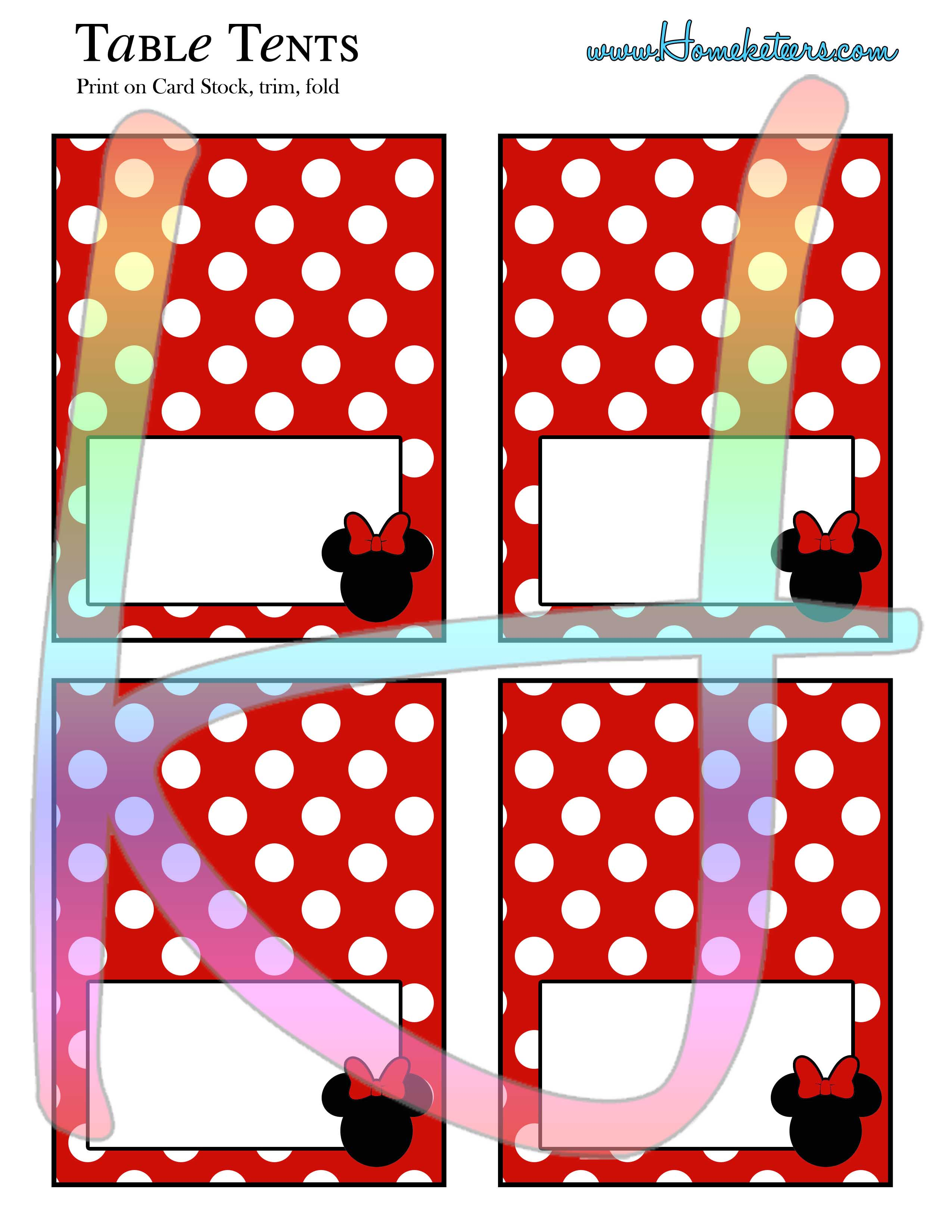 minnie mouse party printable kit red free. Black Bedroom Furniture Sets. Home Design Ideas