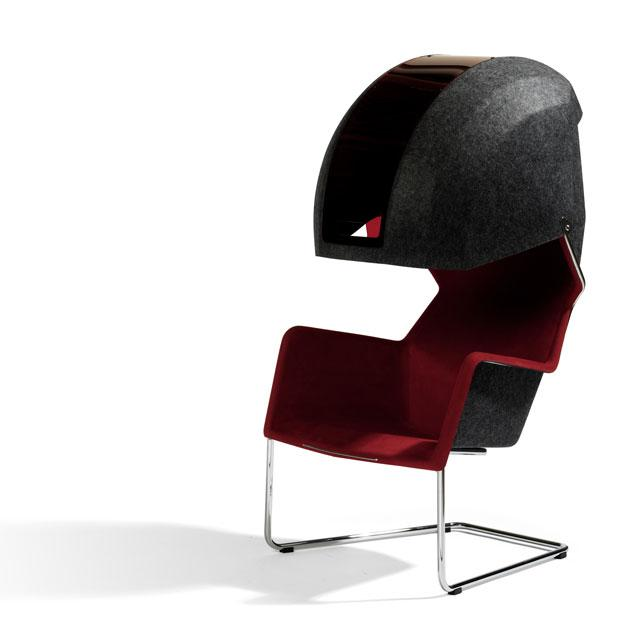 5 chair with hood by borselius design Chair with Hood by Borselius Design