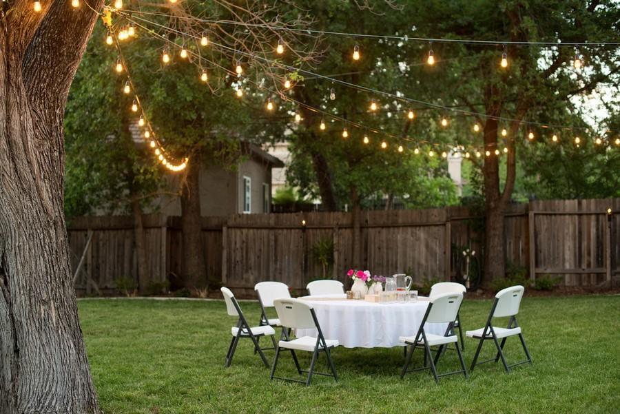 Outdoor Lighting: 6 Inspiring Ideas & 60 Amazing Photos ... on Backyard String Light Designs id=43823