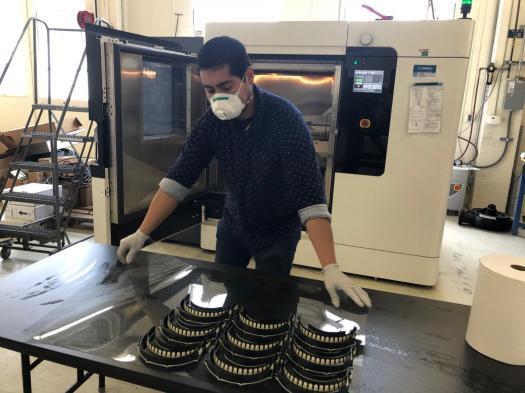 Naval collaboration aids COVID-19 gear production ...