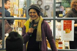 Mary Cherry speaking at 2013 First Friday Holiday Store Celebration