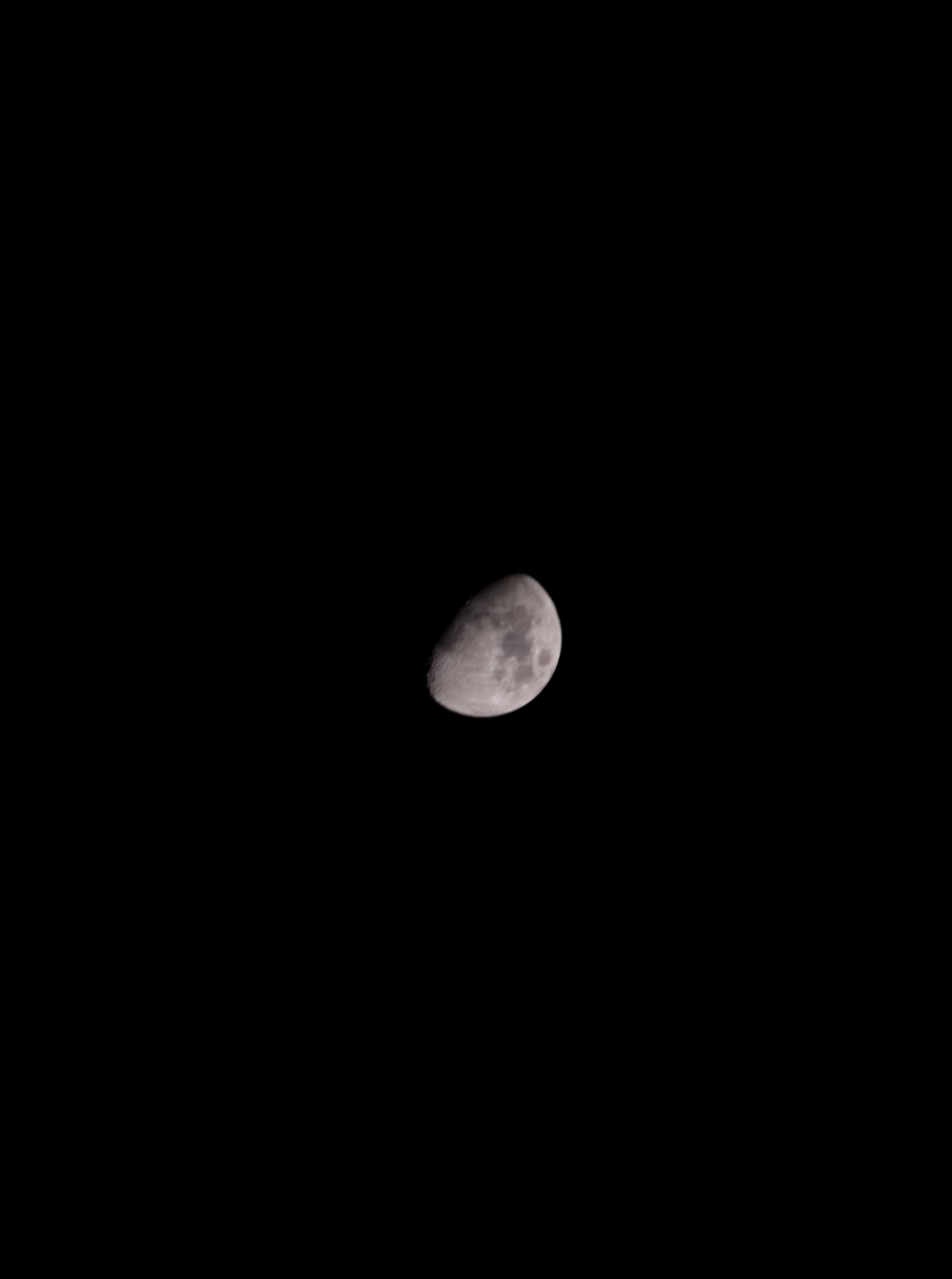 Moon in darkness